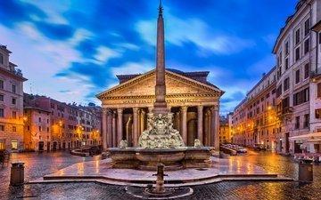 италия, здание, колонны, рим, стелла
