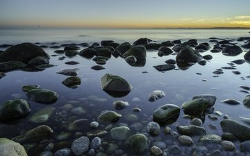 камни, берег, море, побережье, норвегия