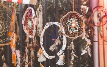 feathers, amulet, dreamcatcher, amulets