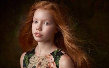 портрет, дети, девочка, веснушки, рыжеволосая, александр виноградов