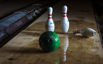 reflection, ball, sport, bowling, skittles
