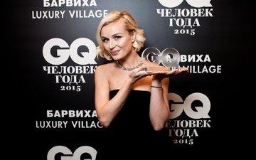 decoration, girl, background, smile, award, singer, polina gagarina