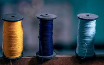 embroidery, thread, coil, yarn
