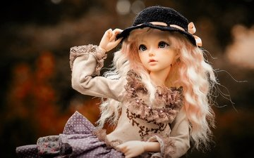 look, girl, toy, doll, hair, hat