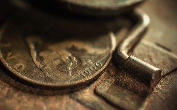 металл, деньги, ржавчина, монеты, старые, 1900 (год)
