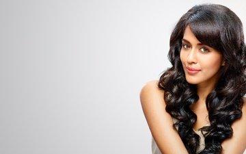 eyes, girl, brunette, model, hair, lips, face, makeup, indian