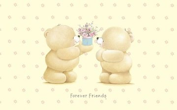 art, bears, gift, flowers, teddy bears, forever friends deckchair bear