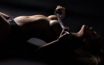 девушка, фото, поза, трусики, модель, грудь, позирует