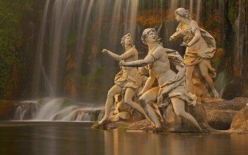 фонтан, италия, скульптура, кампания, казерта, королевский дворец