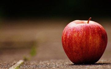 фрукты, яблоко, красное