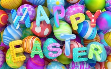 letters, graphics, easter, eggs