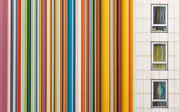 line, strips, paint, wall, windows
