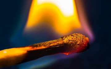 flame, macro, background, fire, match