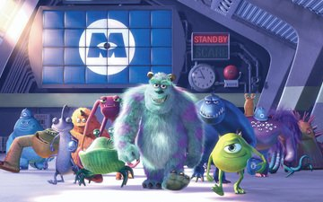 cartoon, characters, monsters inc.