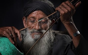 music, people, the old man, beard, musical instrument