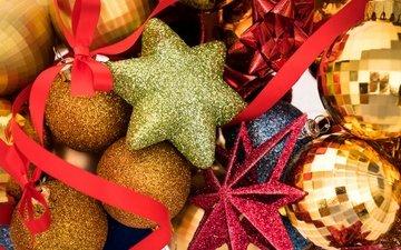 новый год, шары, рождество