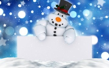new year, snowman, christmas