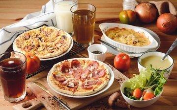 овощи, пицца, начинка, ассорти