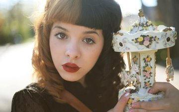 девушка, портрет, взгляд, волосы, лицо, певица, мелани мартинез, melanie martinez