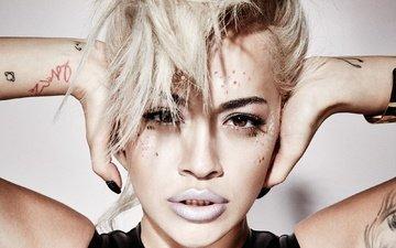 style, girl, portrait, look, hair, face, singer, rita ora