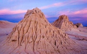 скалы, природа, пейзаж, песок, австралия, дюны, ландшафт, южный уэльс, национальный парк манго
