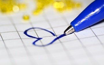 handle, macro, background, heart, love, notebook