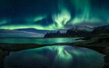 северное сияние, норвегия, senjahopen, troms fylke