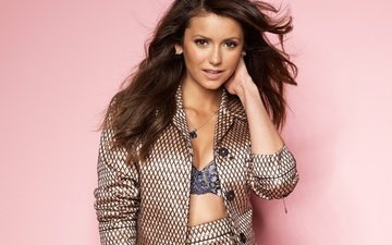 decoration, brunette, model, hair, face, actress, makeup, nina dobrev