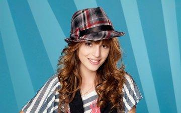 улыбка, модель, актриса, певица, шляпа, белла торн