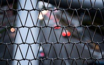 макро, проволока, забор, сетка