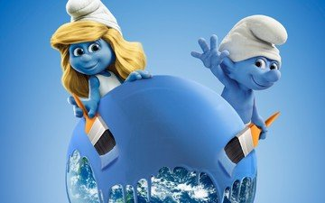 blue, paint, movie, dwarves, cinema, film, the smurfs 3, the lost village