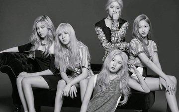 black and white, girls, velvet, stars