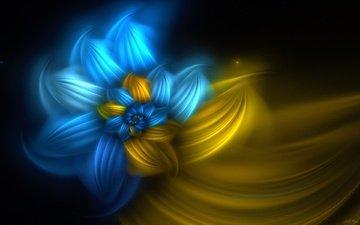 абстракция, линии, фон, цветок, цвет, спираль, фрактал