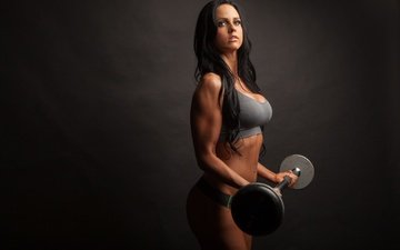 girl, model, figure, fitness, muscle