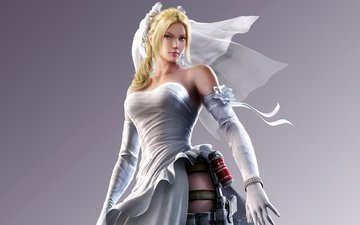girl, dress, tekken, nina williams, phot