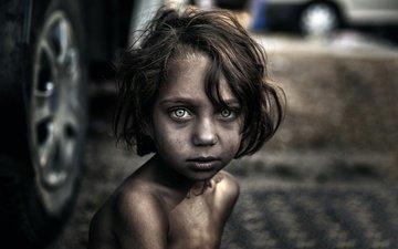 eyes, look, children, hair, face, child