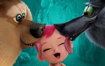 медведь, ребенок, животное, язык, волк, детские, кинотеатр, аисты, кинопленка