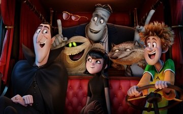 dracula, frankenstein, hotel transylvania 2, monsters on vacation, mavis, jonathan, wayne