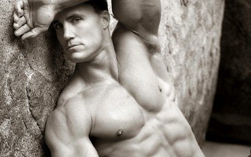 black and white, actor, muscle, greg plitt