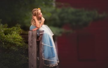 mood, dress, children, girl, hair, face, child, posing