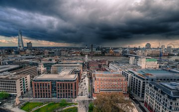 the sky, clouds, london, the view from the top, the city, home, england