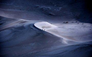 природа, песок, люди, пустыня, дюны