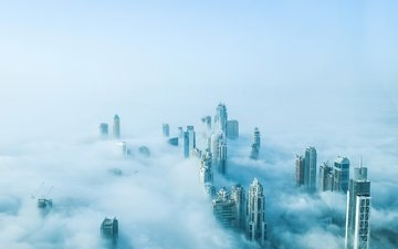 fog, home, building, dubai, uae