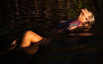 вода, девушка, модель, лицо, купальник, тело, мокрая