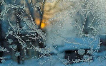 texture, winter, frost, patterns, glass