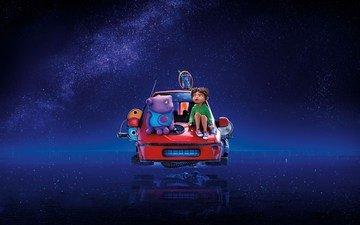 звезды, машина, дома, девочка, дом, пришелец, ох, був, фруктолет