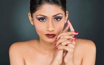 girl, model, lips, face, actress, makeup, indian, shruti iyer