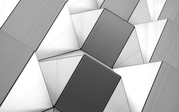 black and white, form, graphics, figure, geometry, 3d
