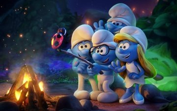 cartoon, ladybug, the fire, the smurfs, bbq, smurfs 3 the lost village, smurfette, the smurfs:the lost village
