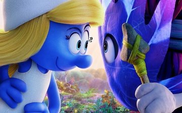 воин, копье, чиби, smurfs 3 the lost village